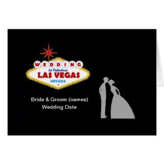 Gifta sig i det sagolika Las Vegas kortet Hälsningskort