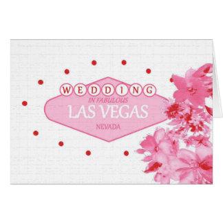 Gifta sig i det sagolika Las Vegas rosa blom- kort