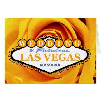 GIFTA SIG i det sagolika Las Vegas Rosie kortet Hälsningskort