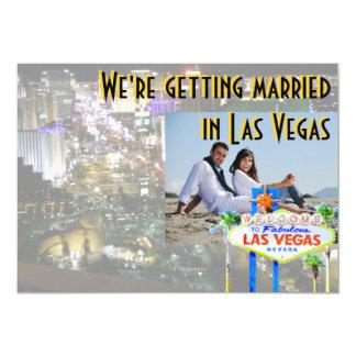 Gifta sig i Las Vegas fotokort 12,7 X 17,8 Cm Inbjudningskort