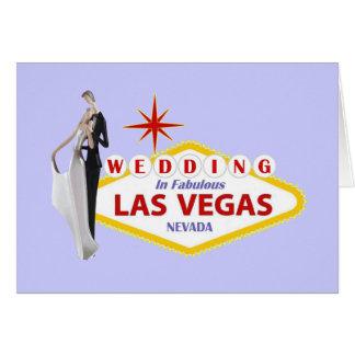 Gifta sig i Las Vegas med brud- brudgumkortet