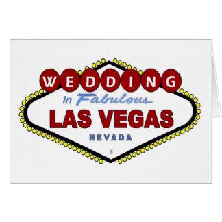 Gifta sig i Las Vegas meddelandekort Hälsnings Kort