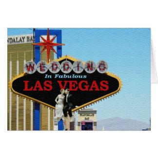 Gifta sig i sagolik Las Vegas brud- brudgumsitti Hälsningskort