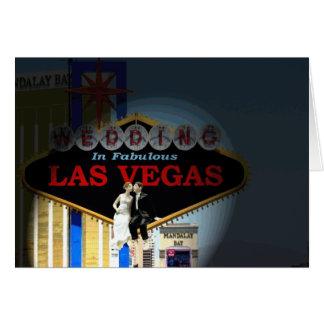 Gifta sig i sagolik Las Vegas brud- & Hälsningskort