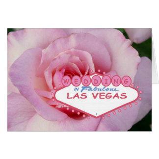 GIFTA SIG i sagolik Las Vegas kortrosa ros Hälsningskort