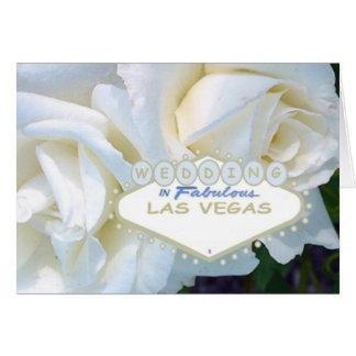 GIFTA SIG i sagolik Las Vegas kortvit ros Hälsningskort