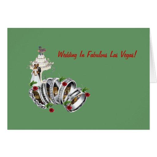 Gifta sig i sagolika Las Vegas B&G med röd ros, OBS Kort