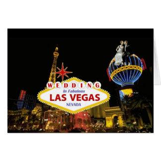 Gifta sig i sagolika Las Vegas med bruden & Hälsningskort