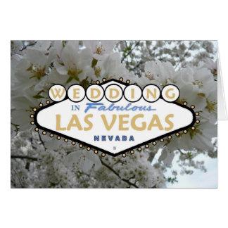 GIFTA SIG i sagolikt Las Vegas blommigtkort
