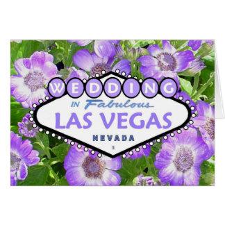 GIFTA SIG i sagolikt Las Vegas blommigtkort Hälsningskort