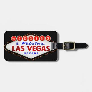 Gifta sig i sagolikt Las Vegas destinationsbröllop Bagagebricka