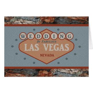 GIFTA SIG i sagolikt Las Vegas granitkort Hälsningskort