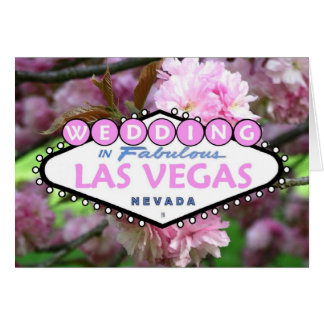 GIFTA SIG i sagolikt Las Vegas körsbärsrött blomma Hälsnings Kort