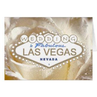 Gifta sig i sagolikt Las Vegas meddelandekort Hälsningskort
