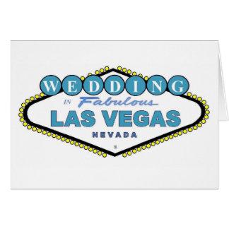 GIFTA SIG i sagolikt Las Vegas meddelandekort Hälsnings Kort