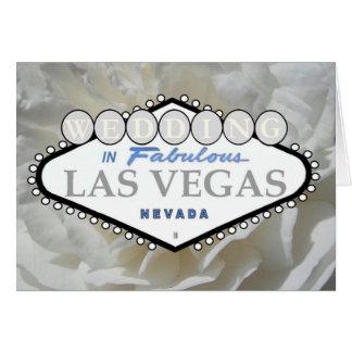 GIFTA SIG i sagolikt Las Vegas vit roskort Kort
