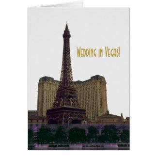 Gifta sig i Vegas! Kort för Eiffel tornmeddelande