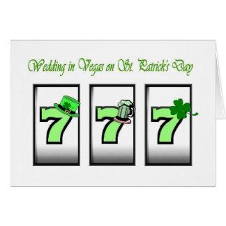 Gifta sig i Vegas på Sts Patrick dagkort Hälsningskort