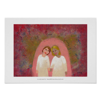 Gifta sig lagligt lesbisk glad målning för folk ko posters