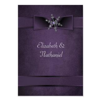 Gifta sig rosett band för för 12,7 x 17,8 cm inbjudningskort