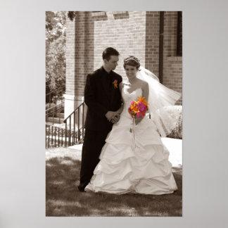 gifta sig som är svartvitt poster