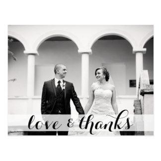 Gifta sig tacka dig vykortet, kärlek & tack vykort