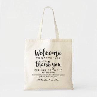 Gifta sig välkomnande- och tackhotellgåvan hänga budget tygkasse