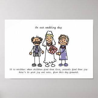 Gifta sig wishen för brud föräldrar affischer
