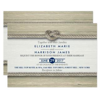 Gifter sig lantligt strandbröllop 12,7 x 17,8 cm inbjudningskort