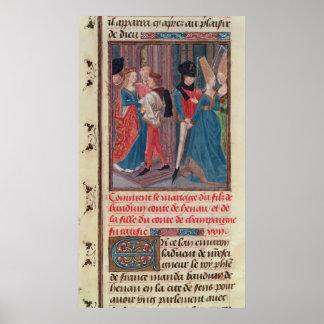 Giftermål av Baldwin VI och Marie Poster