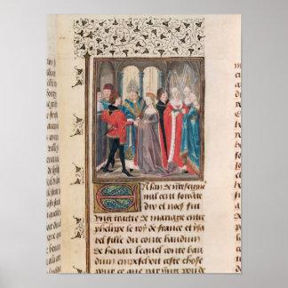 Giftermål av den Philippe Auguste kungen av frankr Poster
