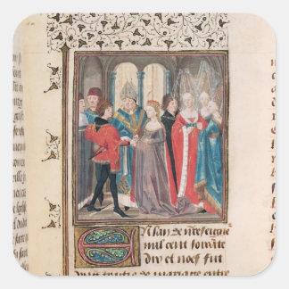Giftermål av den Philippe Auguste kungen av Fyrkantigt Klistermärke