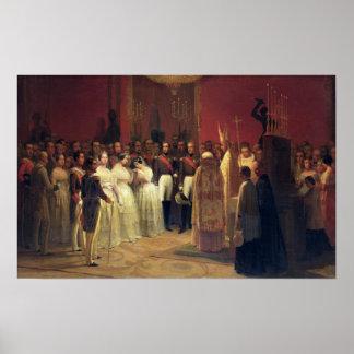 Giftermål av drottningen Isabella II Affischer