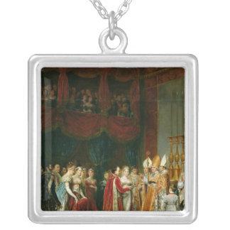 Giftermål av Napoleon mig och Marie Silverpläterat Halsband