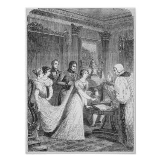 Giftermål av princessen Charlotte av Posters