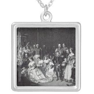 Giftermål av princessen royal silverpläterat halsband