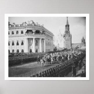 Giftermål av tsaren Nicholas (1868-1918) till Alex Poster