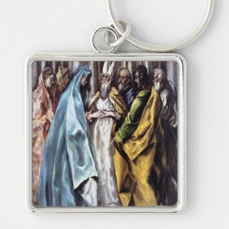 """""""Giftermål av Virgin'en Fyrkantig Silverfärgad Nyckelring"""