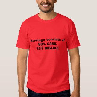 Giftermål består av MOTVILJA för 80%     OMSORG T Shirts