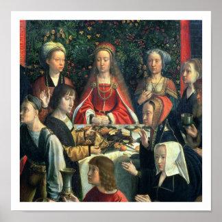 Giftermål på Cana, specificerar av bruden och surr Poster