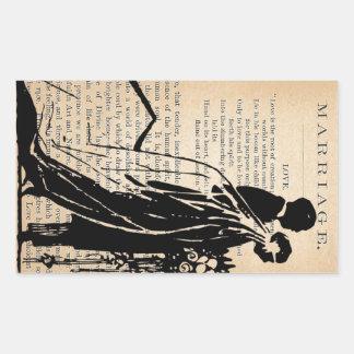 Giftermåldikt vid silhouetten för Longfellow Rektangulärt Klistermärke