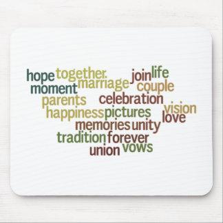 Giftermålsamling av ord (som gifta sig Wordle) Mus Mattor
