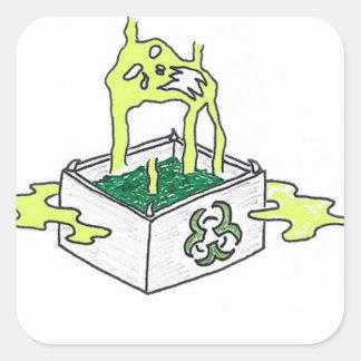 Giftet boxas fyrkantigt klistermärke