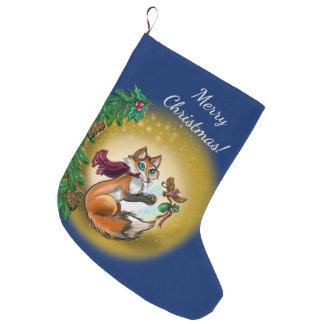 Gifting rävhelgdag stor julstrumpa
