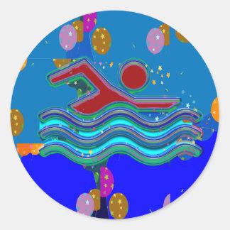 GiftPack hälsningklistermärkear - konstnärligt Runt Klistermärke