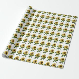 Giftwrap:  Solrosor Presentpapper