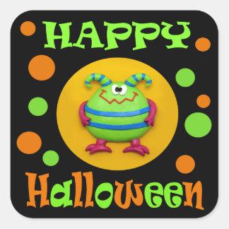 Gigantisk halloween fest fyrkantigt klistermärke
