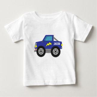 Gigantisk lastbil för tävlings- blått, för pojkar t shirt