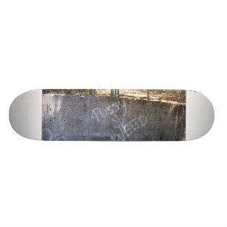 Gigantisk pussy och ogräs old school skateboard bräda 18 cm