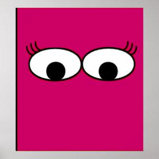 Gigantiska ögon poster